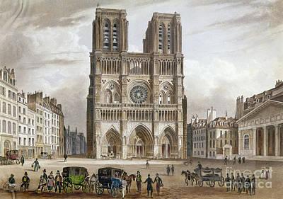 Photograph - Paris: Notre Dame, C1820s by Granger