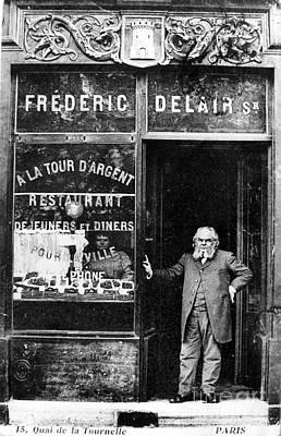 Photograph - Paris Restaurant, 1890s - To License For Professional Use Visit Granger.com by Granger