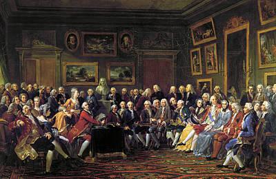 Photograph - Paris: Salon, 1755 by Granger