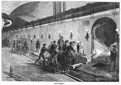 Underground Tour Photograph - Paris: Sewers, 1869 by Granger