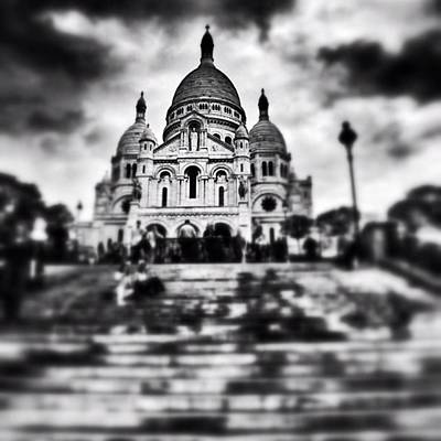 Iphoneonly Photograph - #paris #sky #skyporn #bnw #stairs by Ritchie Garrod