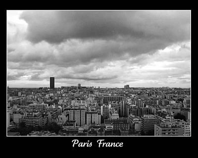 Photograph - Paris Skyline France by John Shiron