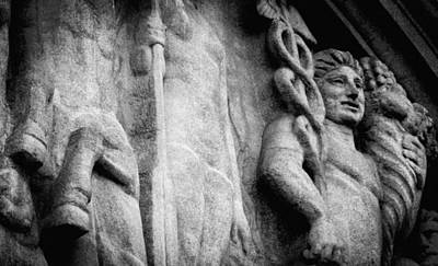 Photograph - Paris Stone Facade  by Tony Grider