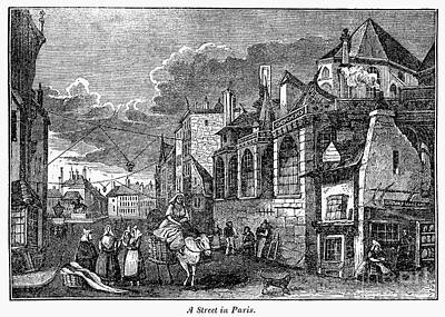 Paris: Street, 1830s Art Print by Granger
