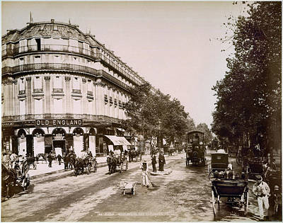 Photograph - Paris: Street Scene, 1890 by Granger
