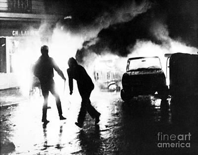 Photograph - Paris Student Revolt, 1968 by Granger