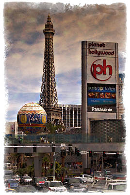 Photograph - Paris To Hollywood - Impressions by Ricky Barnard
