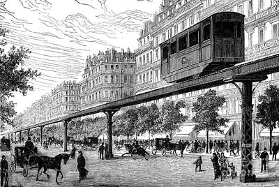 Paris: Tramway, 1880s Art Print by Granger