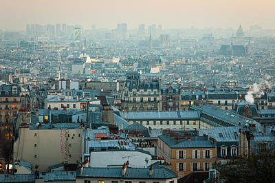 Paris View From Sacre-coeur Print by Thanks for visiting my work !!