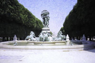 Photograph - Paris Water Feature by Donna Munro