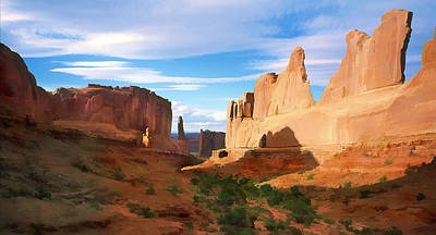 Scenic Vistas Painting - Park Avenue At Arches National Park Utah by Elaine Plesser