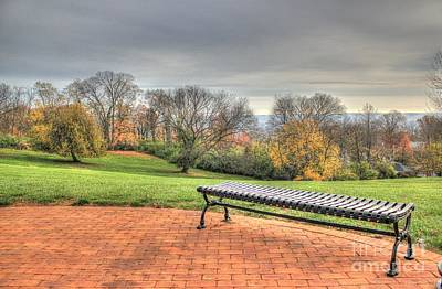 Photograph - Park Bench Cincinnati Observatory by Jeremy Lankford