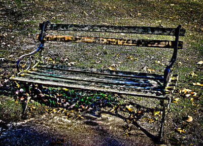 Photograph - Park Bench by Colleen Kammerer