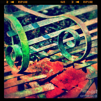Photograph - Park Bench Detail by Jill Battaglia