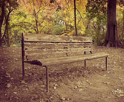 Park Benches Photograph - Park Bench by Steven Michael