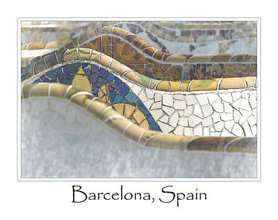 Barcelona Photograph - Park Guell Barcelona Spain by Brandon Bourdages