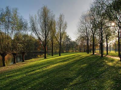 Park In Autumn Sunshine Art Print