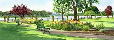 Painting - Park Looking Northwest by Phyllis Martino