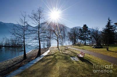 Park On The Lakefront Art Print