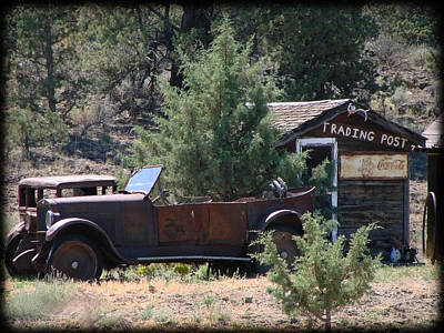 Art Print featuring the photograph Parked At The Trading Post by Athena Mckinzie