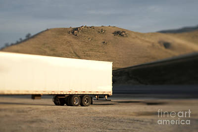 Semi Dry Photograph - Parked Semi Trailer by Eddy Joaquim
