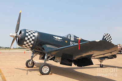 Photograph - Parked Wwii Corsair Fighter by M K Miller