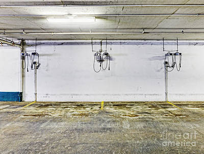 Parking Garage With Charging Stalls Art Print by Skip Nall