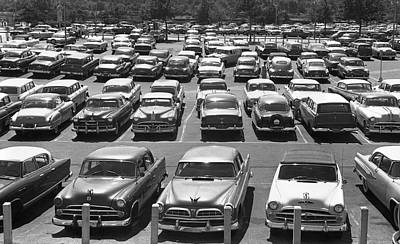 Parking Lot Full Of Cars Art Print by George Marks