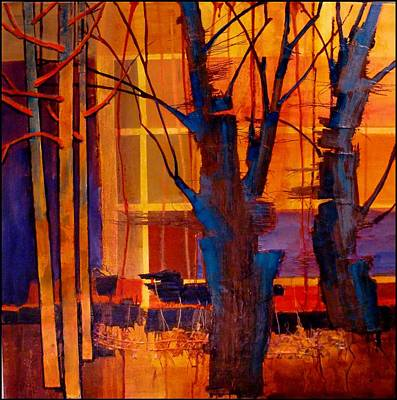 Tangerine Painting - Parkview 3 by Carol  Nelson