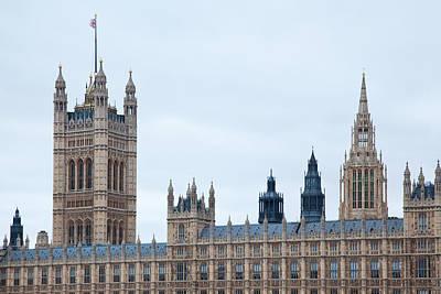 Parliament In Pastel Original by Adam Pender