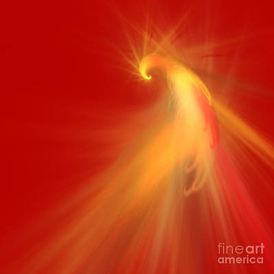 Digital Art - Parrot On Red by Mariella Wassing