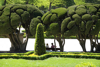 Parterre Gardens In Parque Del Buen Retiro Art Print by Krzysztof Dydynski