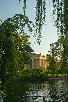 Willow Lake Photograph - Parthenon At Nashville Tennessee 12 by Douglas Barnett