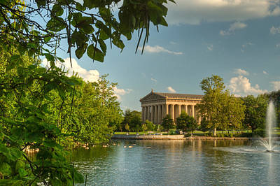 Willow Lake Photograph - Parthenon At Nashville Tennessee 13 by Douglas Barnett