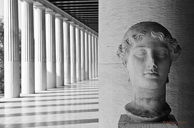 Partheon With Statue Art Print