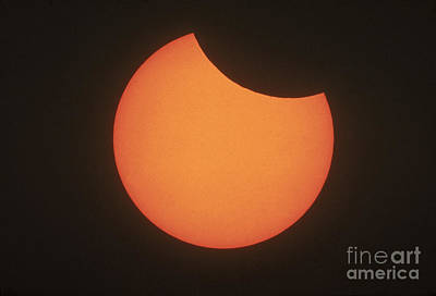 Partial Solar Eclipse Print by Science Source