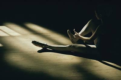 Partially Hidden In Shadow, A Ballet Art Print by Robert Madden