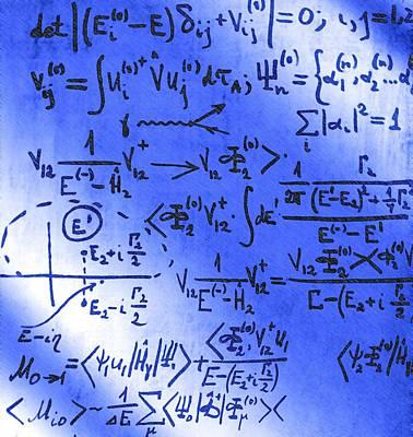 Particle Physics Equations Art Print by Ria Novosti
