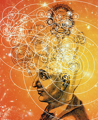 Particle Tracks And Old Cosmology Art Print by Mehau Kulyk