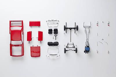 Parts Of A Model Car Art Print