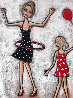 Birthday Painting - Party Girls by Denise Daffara