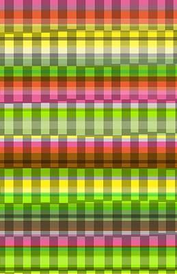 Party Stripe Art Print by Louisa Knight