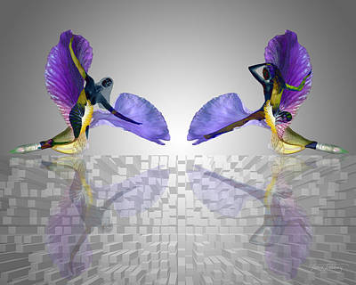 Floral Digital Art Digital Art Digital Art - Pas De Deux by Torie Tiffany