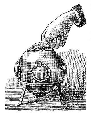 Pascal's Principle Demonstration, 1889 Art Print by
