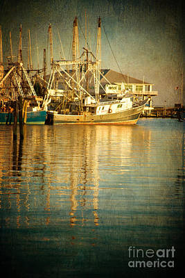 Pass Christian Harbor And Yacht Club Art Print