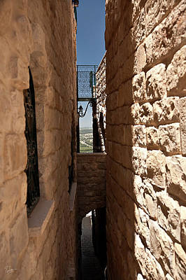 Photograph - Passageway In Sfat by Endre Balogh