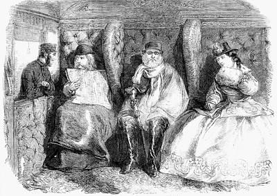 Passenger Car, 1864 Art Print by Granger