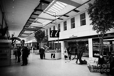 passenger concourse of Glasgow Buchanan street bus station Scotland UK Art Print by Joe Fox