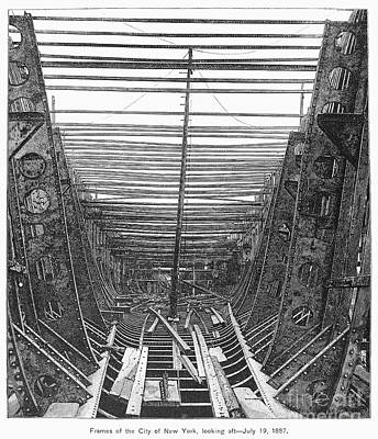 Photograph - Passenger Ship Frame, 1887 by Granger