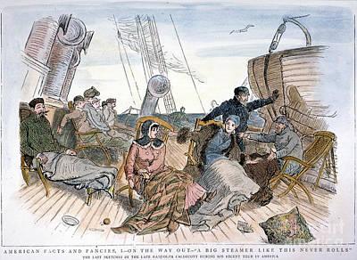 Passengers On Steamship Art Print